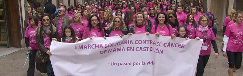 La 1ª Marcha contra el Cáncer de Mama de Castellón recorre las calles de la Capital de La Plana con un gran éxito de participación