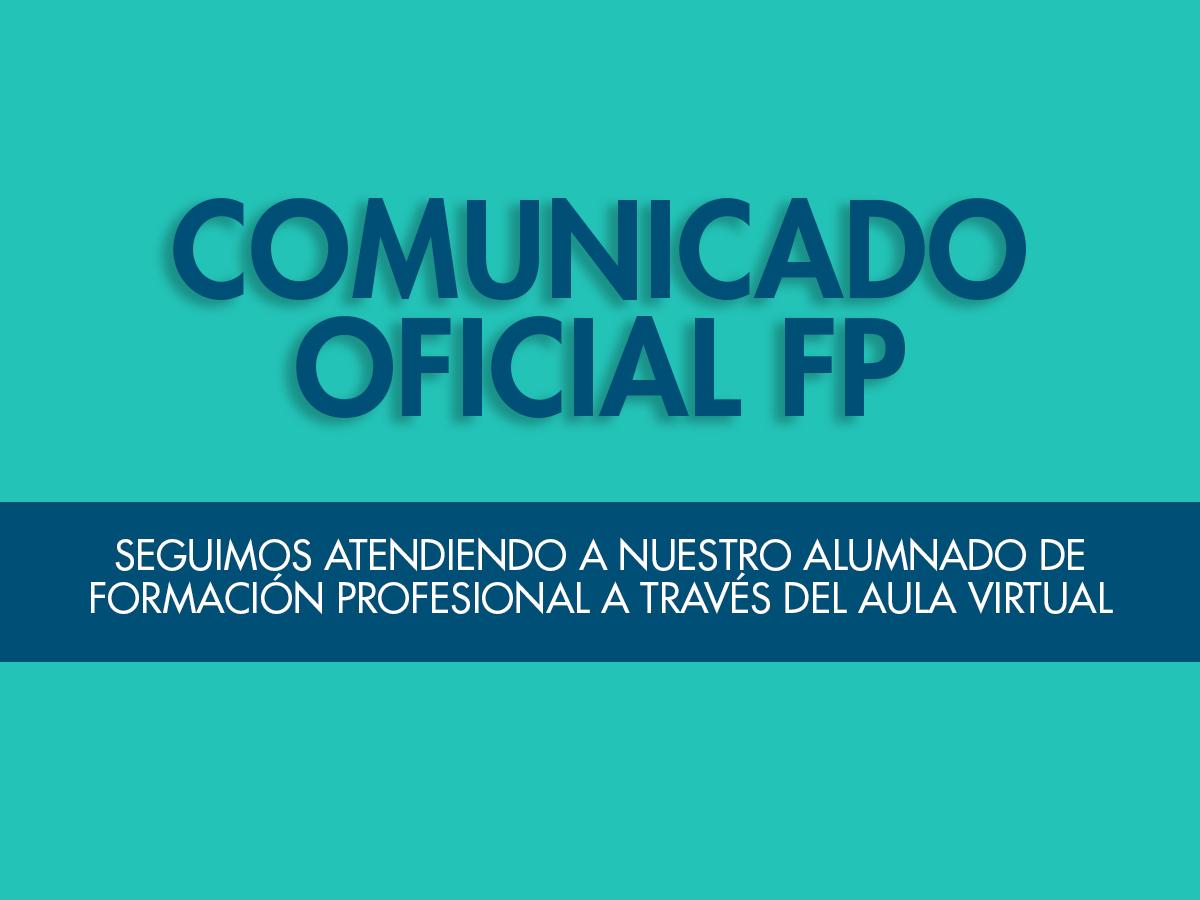 COMUNICADO OFICIAL FP