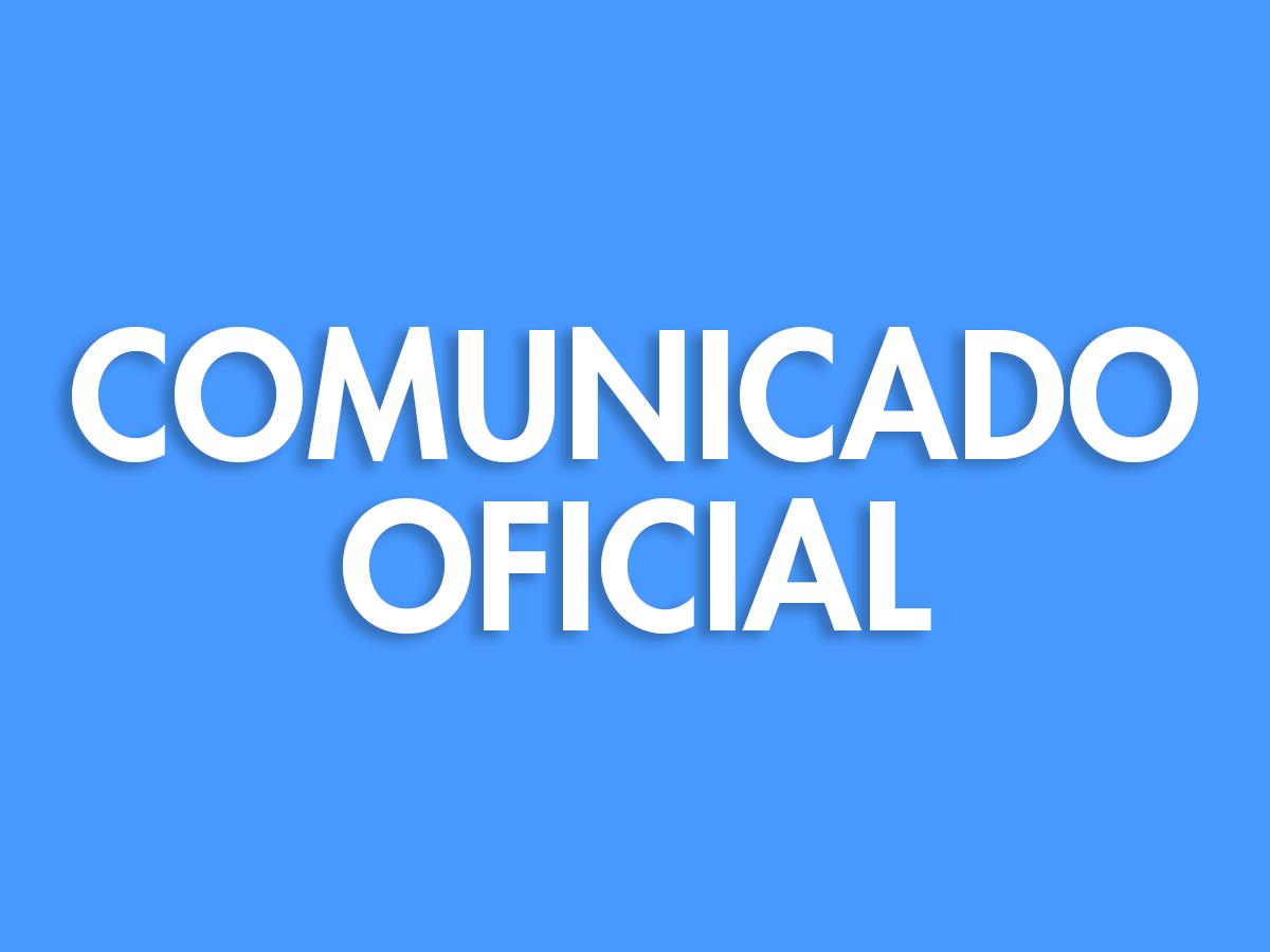 Comunicado oficial ante COVID-19